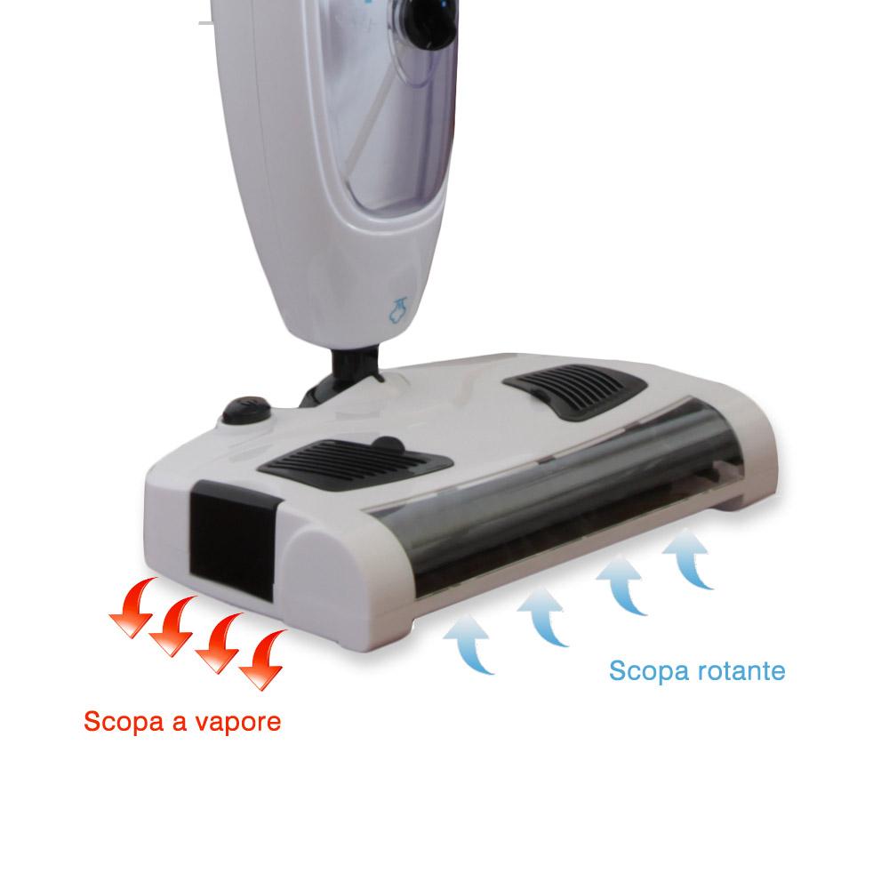 Scopa a vapore 6in1 kit accessori zygoshop for Clatronic scopa a vapore